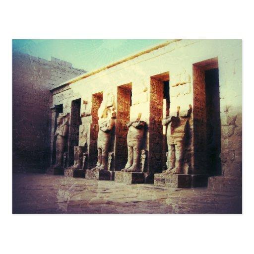 Foto del vintage del templo de Medinet Habu Postales