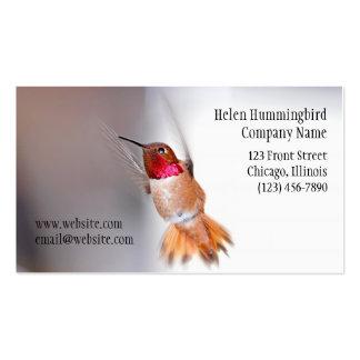 Foto del vuelo del colibrí plantilla de tarjeta personal