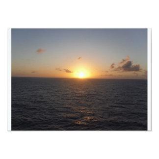 "Foto determinada de Sun por la tarjeta de Lorette Invitación 5"" X 7"""