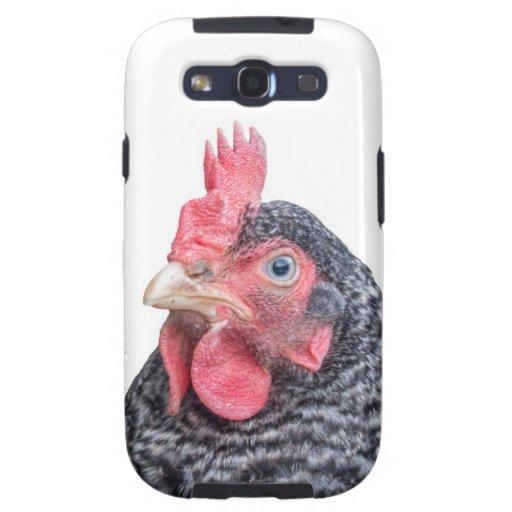 Foto divertida de la gallina del pollo que frunce  galaxy SIII cárcasas