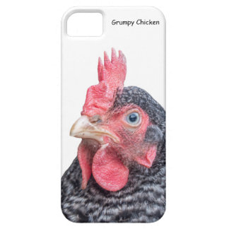 Foto divertida de la gallina del pollo que frunce funda para iPhone 5 barely there