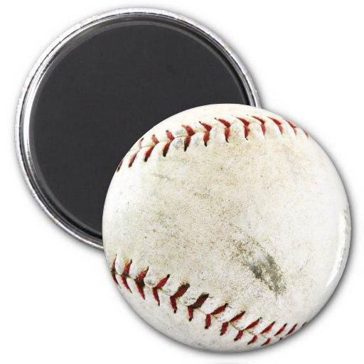 Foto divertida del béisbol imán redondo 5 cm