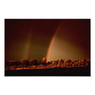 Foto doble del arco iris cojinete