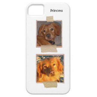 Foto doble del mascota o de la persona con nombre iPhone 5 Case-Mate fundas