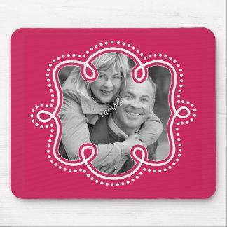 Foto Doodled rosa brillante del marco de la Mousepads