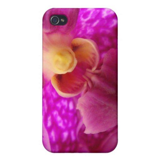 Foto elegante del gráfico de la orquídea iPhone 4 carcasa
