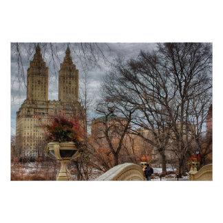 Foto en el puente en Central Park, NYC del arco