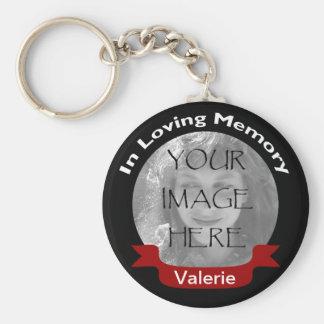 Foto en el rojo cariñoso del negro de la memoria p llaveros personalizados