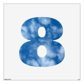 Foto en parte nublada del cielo azul vinilo