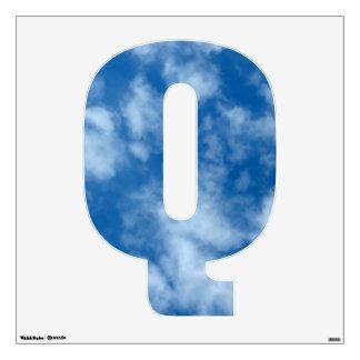 Foto en parte nublada del cielo azul vinilo adhesivo