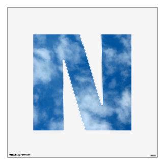 Foto en parte nublada del cielo azul vinilo decorativo