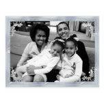 Foto enmarcada 1ra familia de presidente Obama Tarjetas Postales