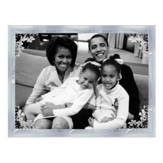Foto enmarcada 1ra familia de presidente Obama Postal