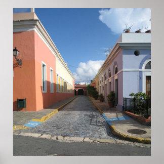 Foto enmarcada Puerto Rico vieja de San Juan Posters