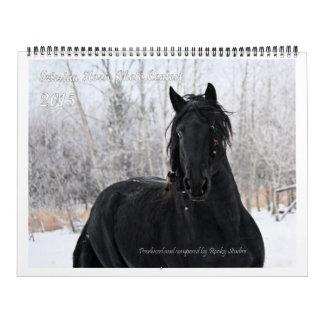 Foto enorme del caballo frisio calendarios