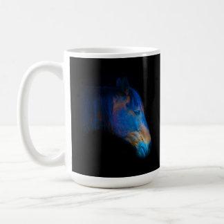 Foto equina de Percheron HDR del retrato negro del Taza Clásica