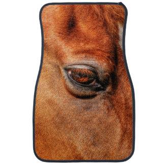 Foto equina del ojo del caballo Gelding del Dun Alfombrilla De Auto