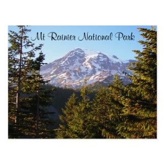Foto escénica del viaje del Monte Rainier Tarjetas Postales