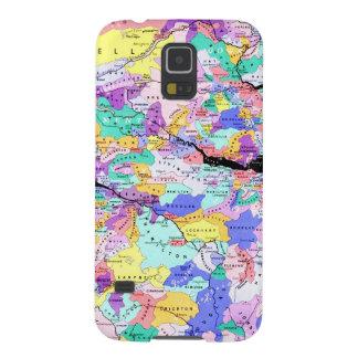 Foto escocesa de los clanes del mapa de Escocia Carcasa Para Galaxy S5