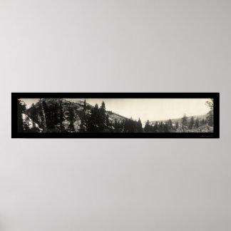 Foto esmeralda 1906 de Tahoe de la bahía Póster