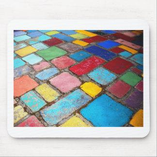 Foto española pintada de las tejas, del azul, amar alfombrilla de ratones