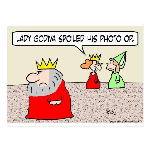 foto estropeada godiva de la señora del rey de Op. Postales