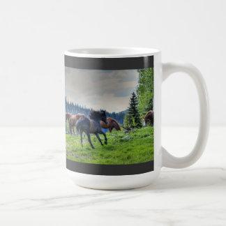Foto excelente negra corriente 3 del caballo de taza clásica