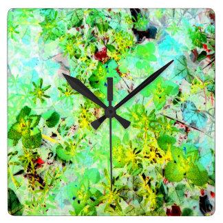 Foto floral Acryllic moderno del arte de la acuare Reloj De Pared