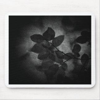 Foto floral artística gris oscuro retra elegante alfombrilla de ratón