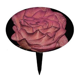 Foto floral de la flor color de rosa mojada hermos decoración para tarta