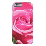 Foto floral de la flor color de rosa rosada del funda de iPhone 6 barely there