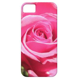Foto floral de la flor color de rosa rosada del iPhone 5 carcasas