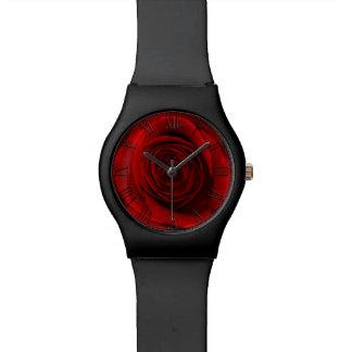 Foto floral de la flor hermosa del rosa rojo relojes