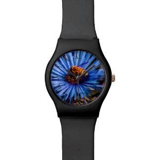 Foto floral de la flor hermosa reloj de mano