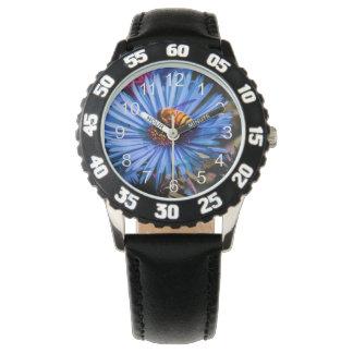 Foto floral de la flor hermosa relojes de pulsera