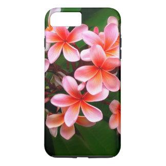 Foto floral de la flor verde rosada tropical del funda iPhone 7 plus