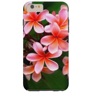 Foto floral de la flor verde rosada tropical del funda resistente iPhone 6 plus