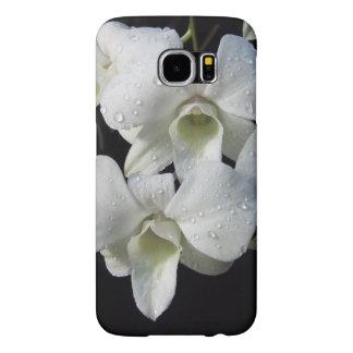 Foto floral de la orquídea blanca elegante fundas samsung galaxy s6