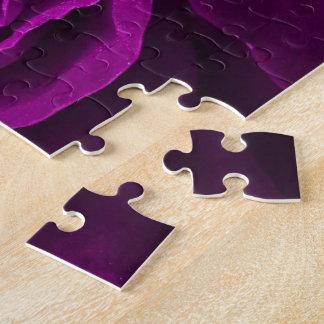 Foto floral de los rosas púrpuras románticos puzzle