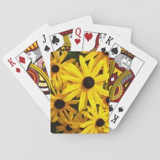 Foto floral observada negro de Susans Cartas De Juego