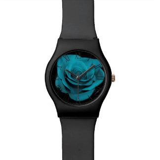 Foto floral subió trullo hermoso de la flor reloj de mano