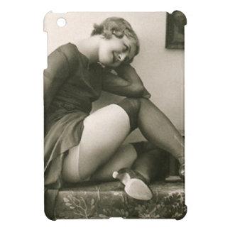 Foto francesa de la postal del vintage iPad mini carcasas