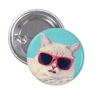 Foto fresca del gato pin redondo de 1 pulgada