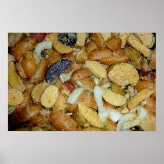 foto frita de la comida de las cebollas del queso  posters