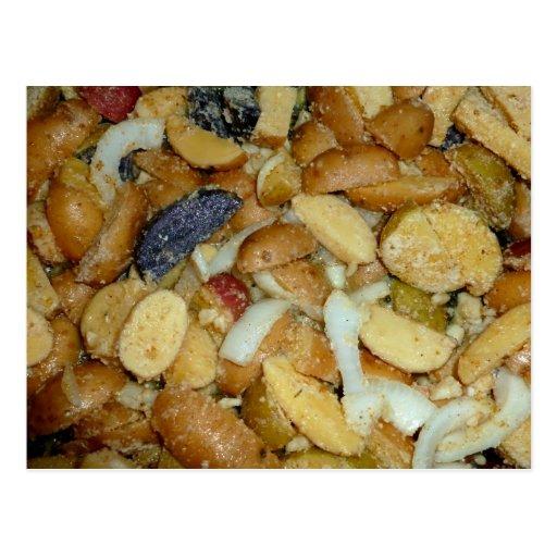 foto frita de la comida de las cebollas del queso postal