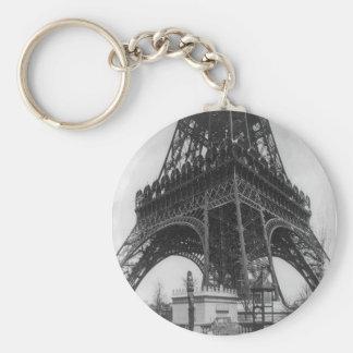 Foto from 1800 del vintage de la torre de Eifel Llavero Redondo Tipo Pin