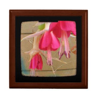 Foto fucsia rosada de la flor caja de recuerdo