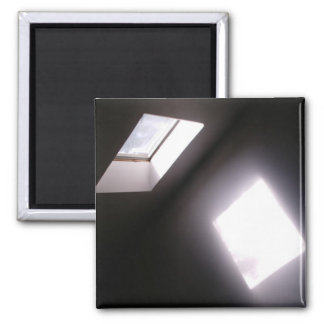 Foto geométrica minimalista de la ventana del trag imán cuadrado