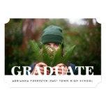 """Foto graduada casual simple invitación 5"""" x 7"""""""