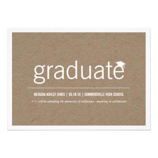 Foto graduada moderna simplemente de papel de la g anuncios personalizados